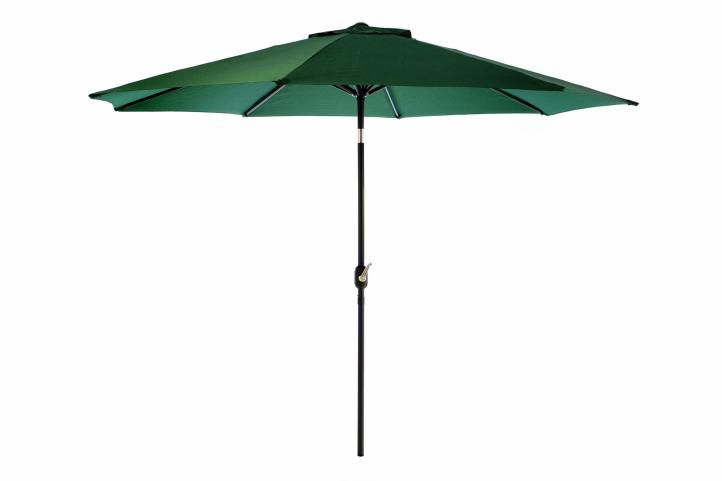 Slunečník ø 290 cm - zelený s kličkou