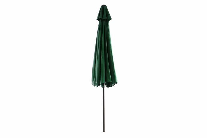 Slunečník ø 290 cm – zelený s kličkou