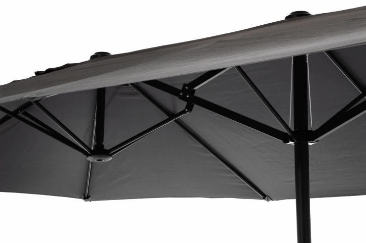Velký XXL slunečník 4,5 m - antracit