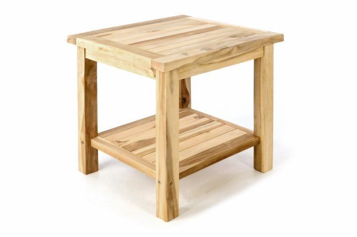 Zahradní odkládací stolek z masivního teaku  DIVERO