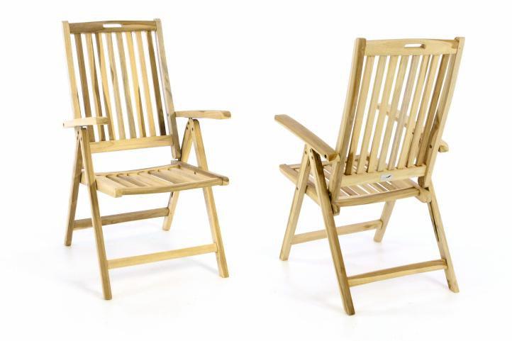 Zahradní skládací židle dřevěná DIVERO – Sada 2 ks