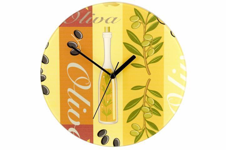 Nástěnné hodiny WENKO 27 cm – oliva