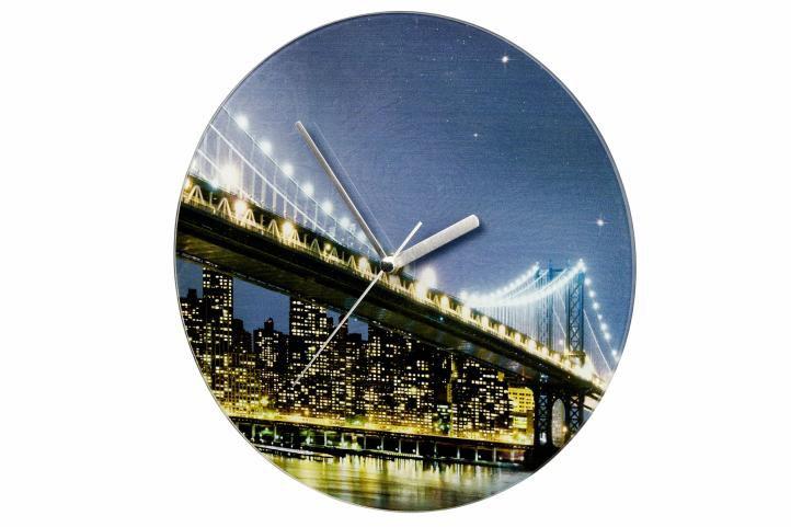 Nástěnné hodiny WENKO  27cm – Brooklyn Bridge