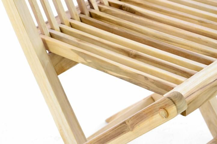 Zahradní set DIVERO z teakového dřeva – stůl + 4 skládací židle