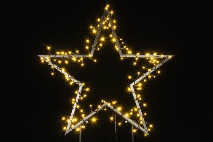 Nexos 57377 Vánoční LED dekorace - HVĚZDA - 150 LED 73 cm