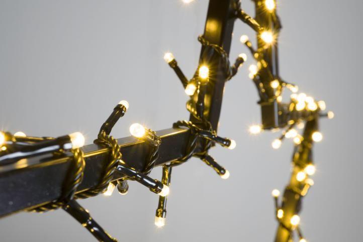 Vánoční LED dekorace - HVĚZDA - 150 LED 73 cm