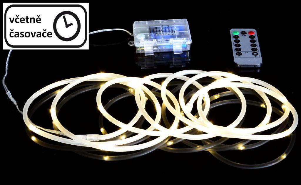 Fotografie Vánoční LED osvětlení - MINI kabel - 5 m teple bílá