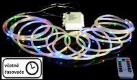 Vánoční LED osvětlení - MINI kabel, 5 m, barevný