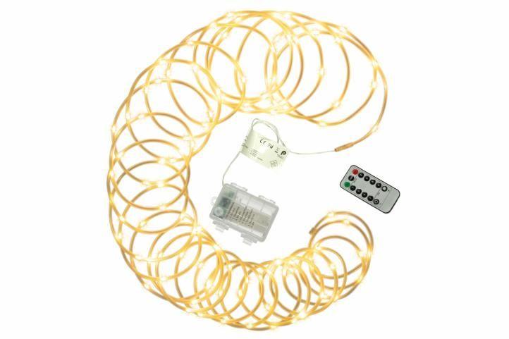 Vánoční LED osvětlení – MINI kabel, 10 m, teple bílý