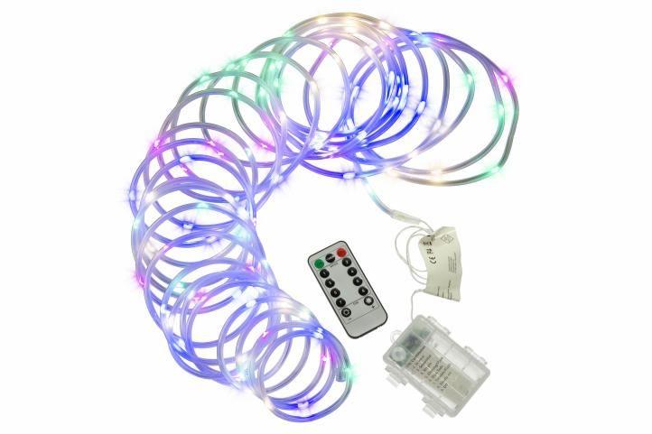 Vánoční LED osvětlení - MINI kabel, 10 m, barevný