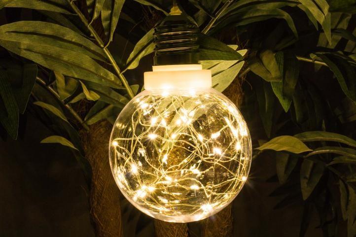 Vánoční dekorace - žárovka - 30 LED teple bílá