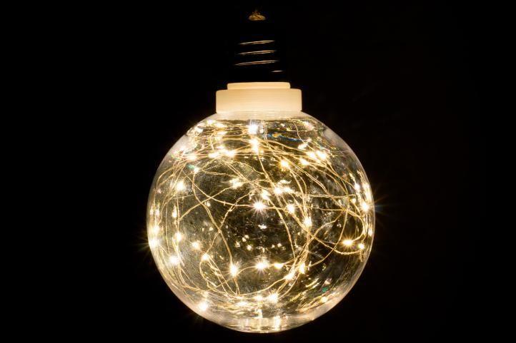 Vánoční dekorace – žárovka, 40 LED, teple bílá
