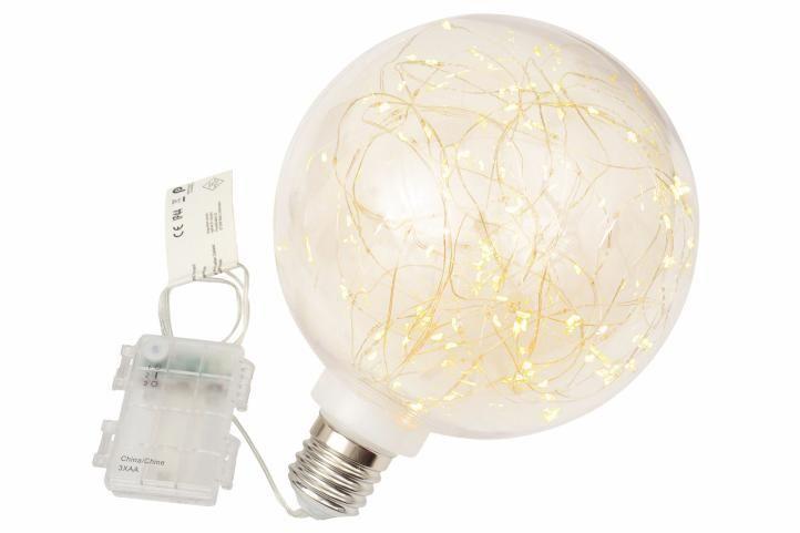Vánoční dekorace - žárovka, 80 LED, teple bílá