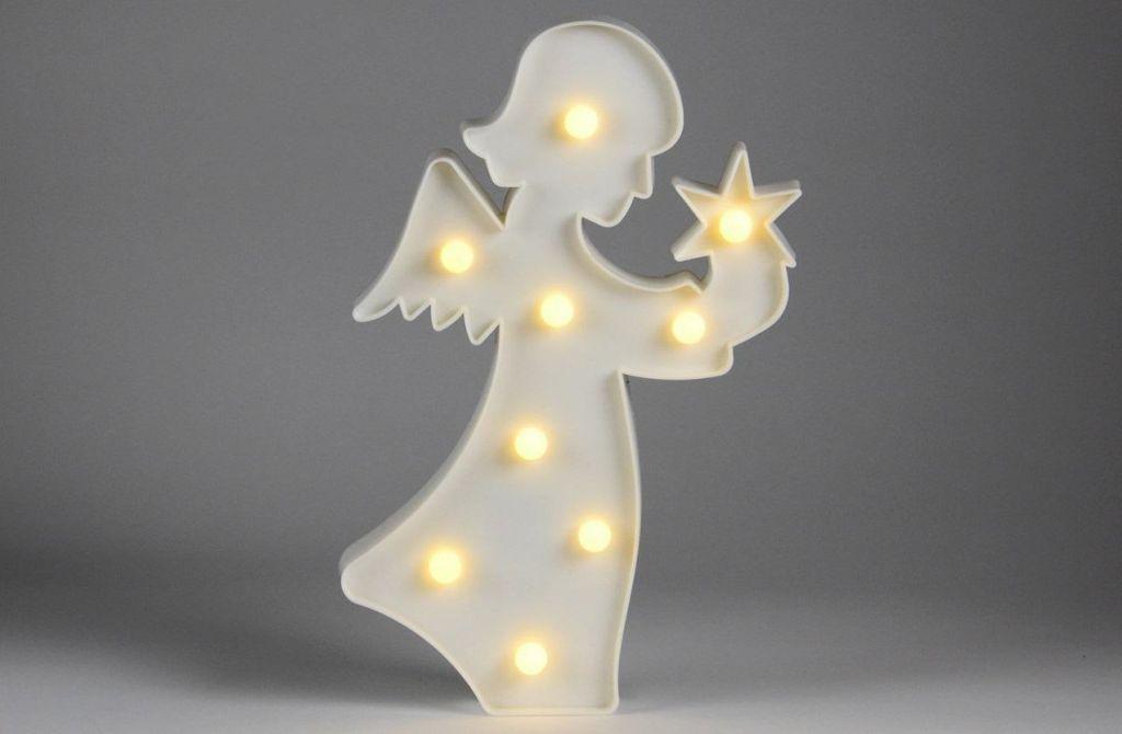 Vánoční dekorativní osvětlení - andělíček - 9 LED teple bílá