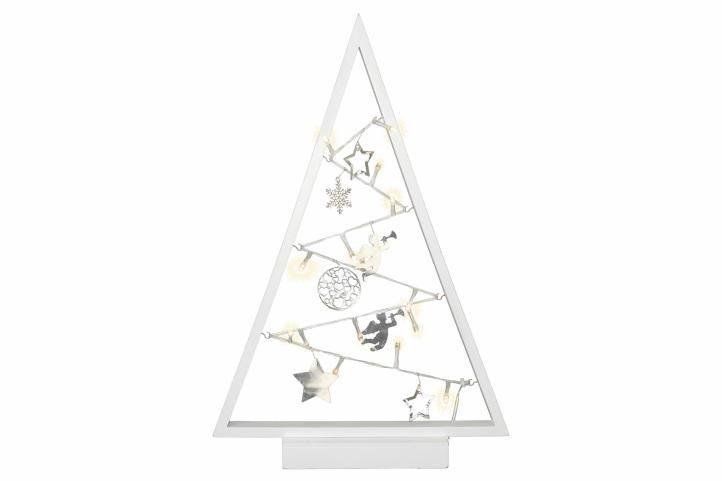 Bílá světelná vánoční dekorace - 15 LED, teple bílá