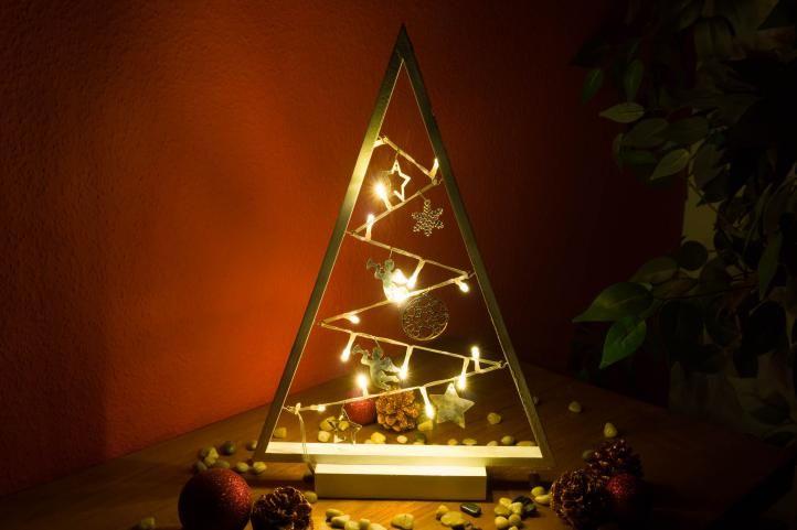 Světelná dekorace bílá - Vánoce - 15 LED teple bílá