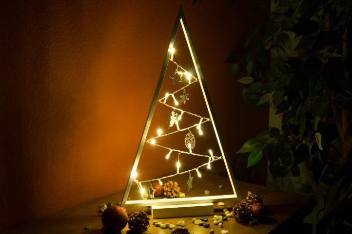 Světelná dekorace bílá - Vánoce - 20 LED teple bílá