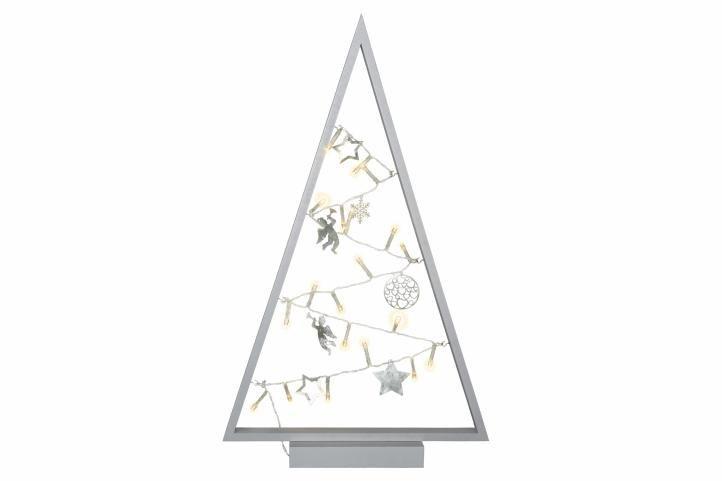 Světelná dekorace šedá – Vánoce – 20 LED teple bílá
