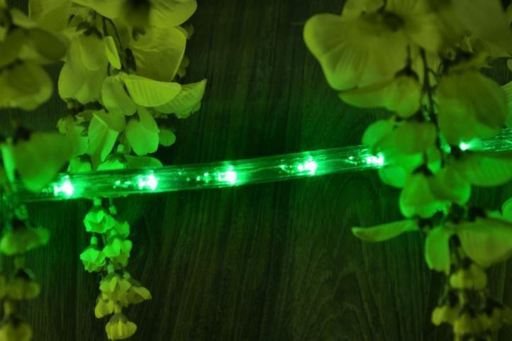 LED světelný kabel - 240 diod, 10 m, zelený