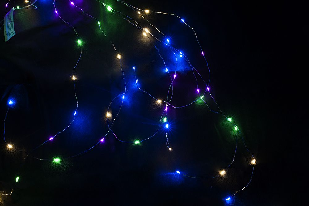 Nexos 59110 Vánoční dekorativní osvětlení – drátky - 48 LED barevné