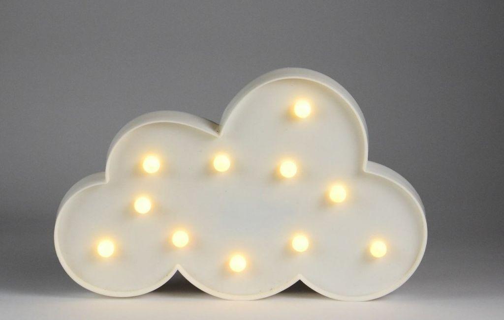 Světelná LED dekorace - mráček  - 11 LED teple bílá