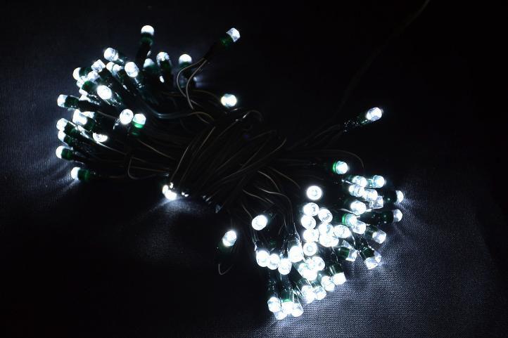 Zahradní světelný déšť - 110 x LED diody bílé - s blikající funkcí