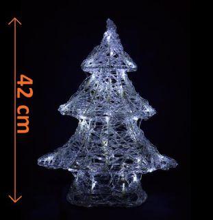 Vánoční dekorace - Zimní stromek - 42 cm studená bílá