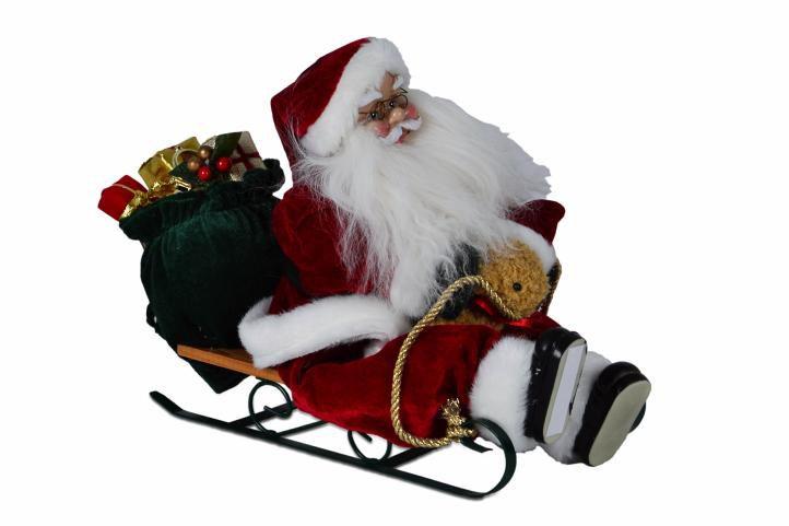 Vánoční dekorace – Santa Claus na saních