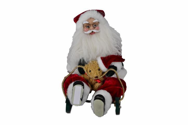 Vánoční dekorace - Santa Claus na saních
