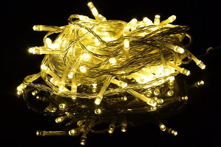 Vánoční LED osvětlení 2 m - teple bílé, 20 diod