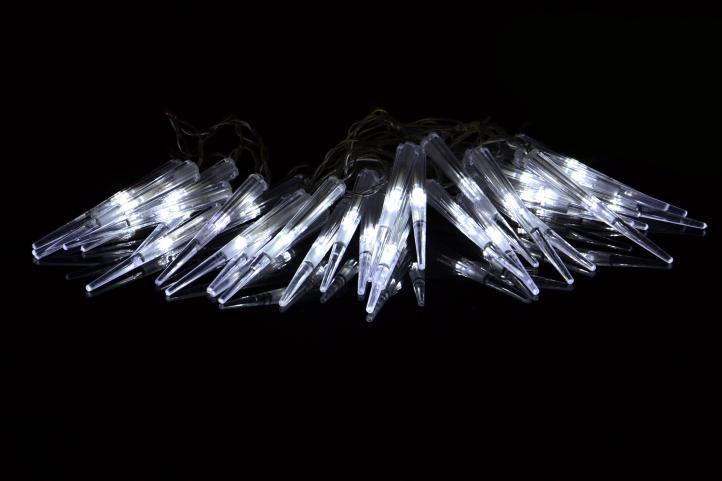 Vánoční dekorativní osvětlení - rampouchy - 60 LED studená bílá
