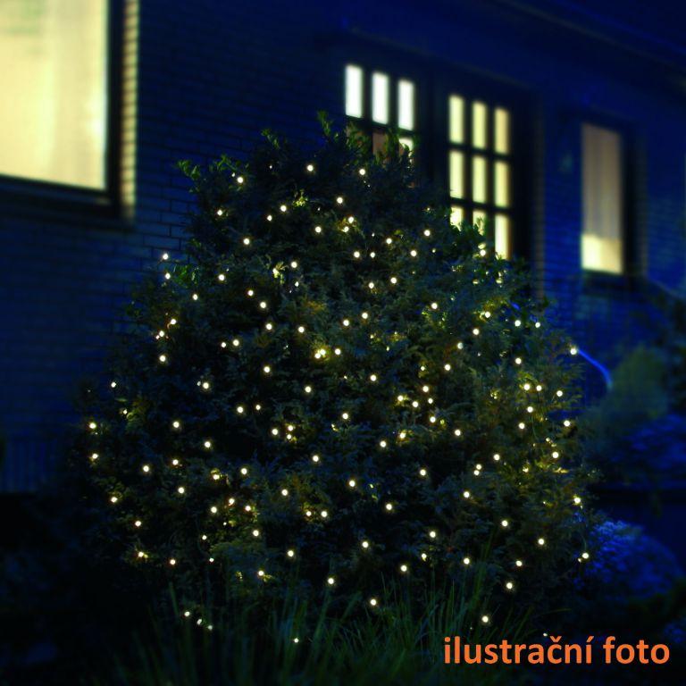 Vánoční osvětlení - LED světelná síť 1,2 x 1,9 m - teplá bílá, 160 diod