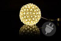 Vánoční dekorace - LED koule, 12 cm