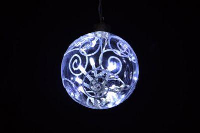 Vánoční dekorace - LED vánoční koule - studená bílá