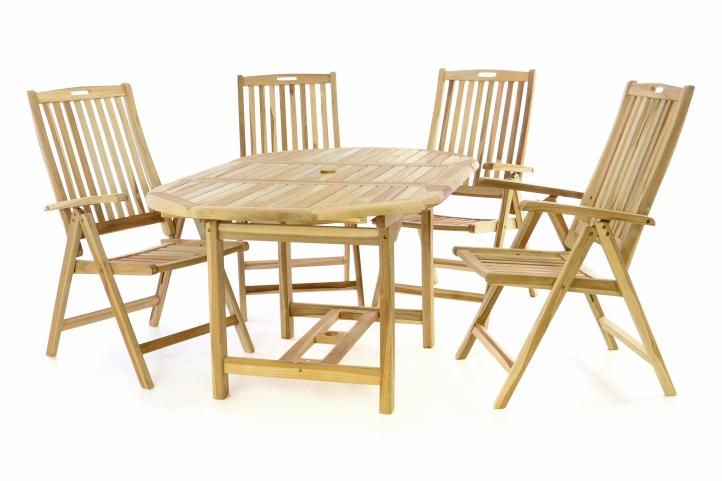 Rozkládací stůl DIVERO se židlemi