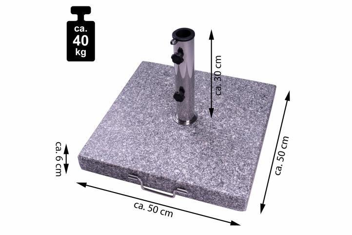 Podstavec na slunečník žula – 40 kg
