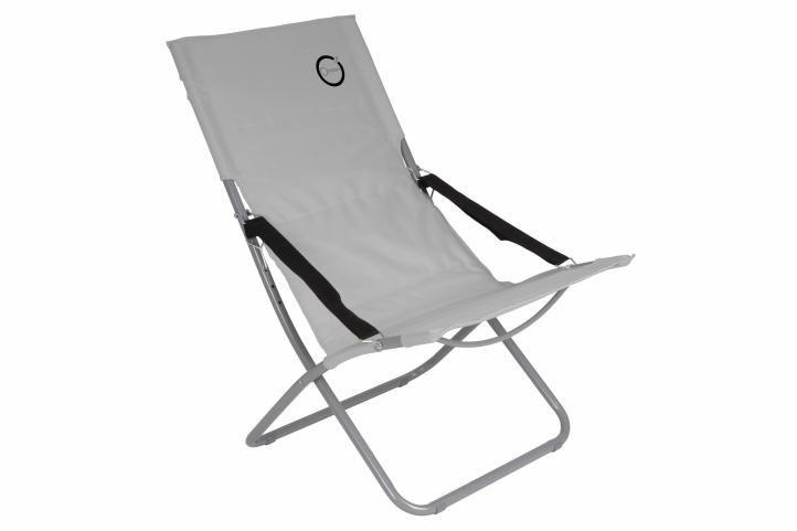 Skládací kempinková židle – šedá