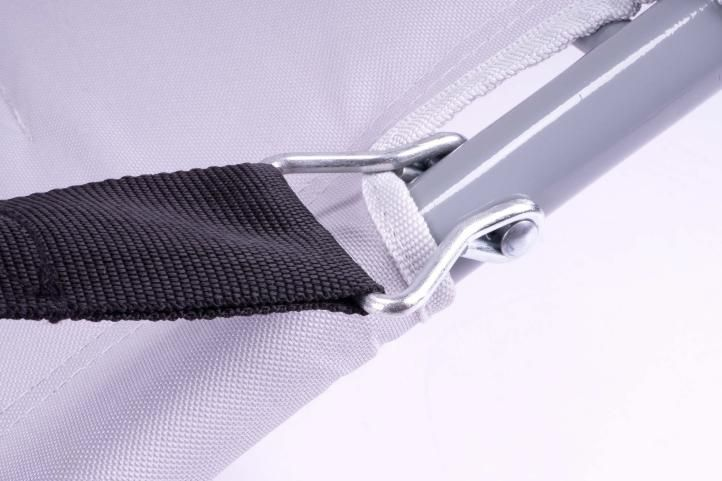 Skládací kempingová židle - šedá
