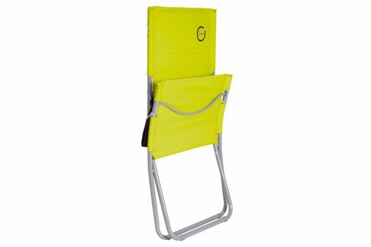 Skládací kempinková židle – světle zelená