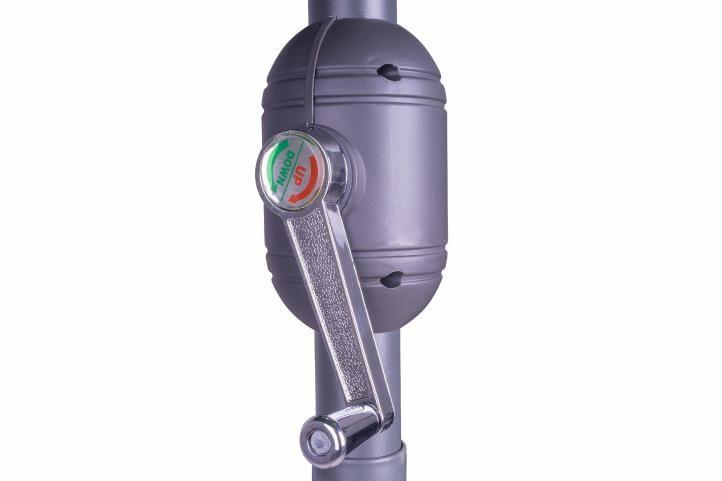 Slunečník s kličkou antracit - 3 m