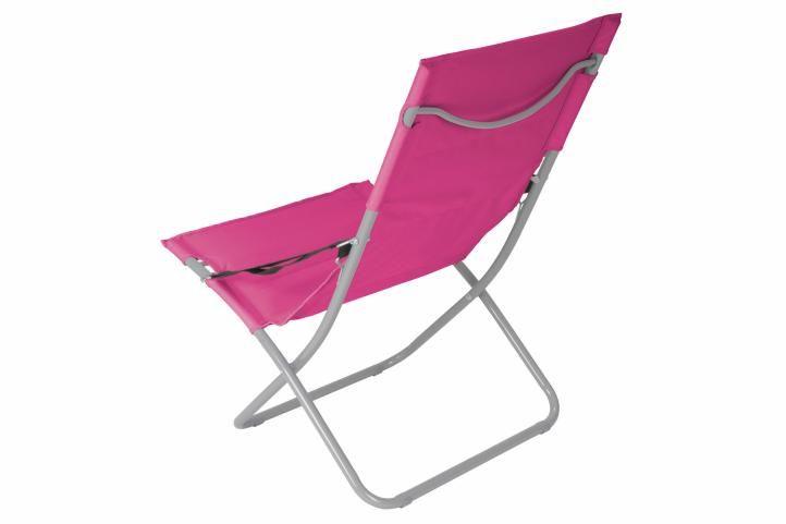 Skládací kempinková židle - růžová