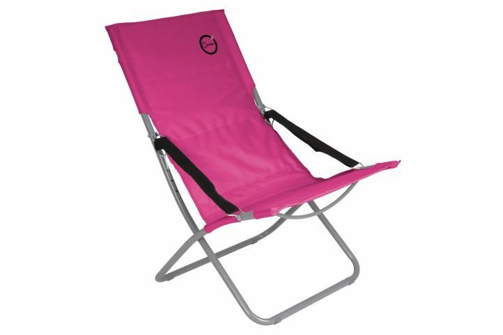 Skládací kempingová židle – růžová