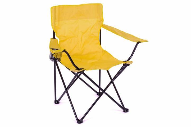 Skládací kempinková židle s opěrkou, držákem a taškou