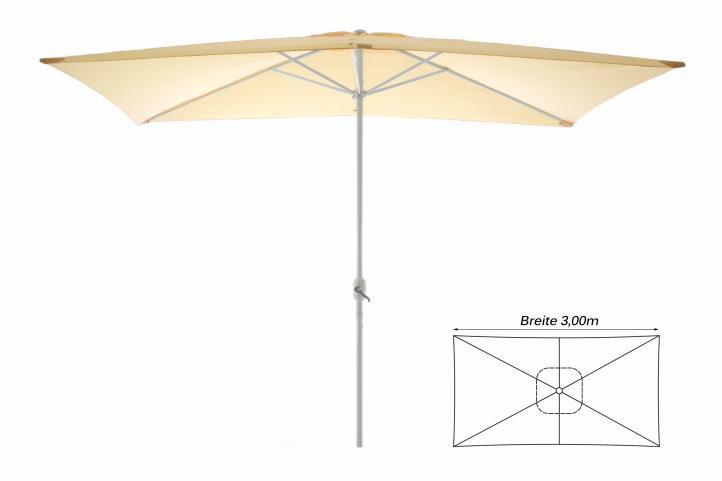 Zahradní slunečník – obdélníkový 2×3 m – champagne