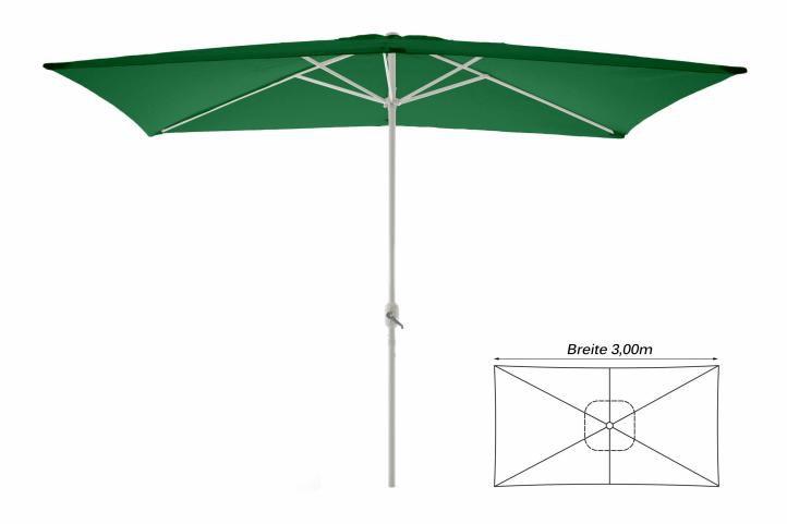 Slunečník obdélníkový 2x3 m - zelený