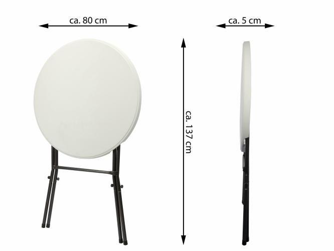 Skládací party stolek BISTRO 80 x 80 x 110 cm