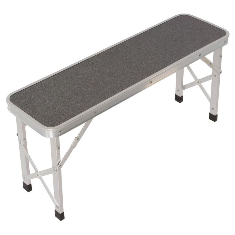 Skládací zahradní stůl 90 cm + 2 lavice