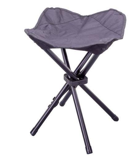 Kempovací skládací stolička – černá