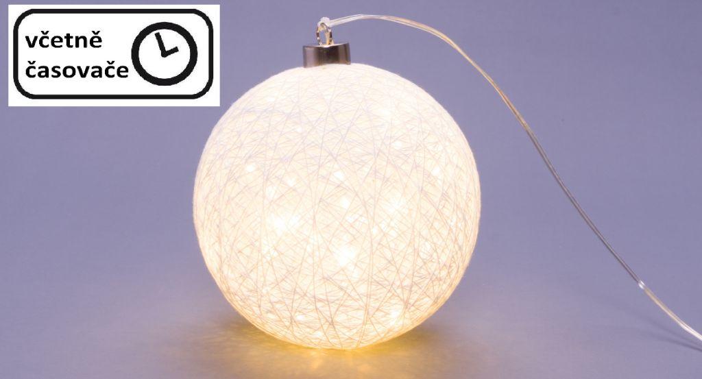 Svítící koule – 30 LED, teple bílá