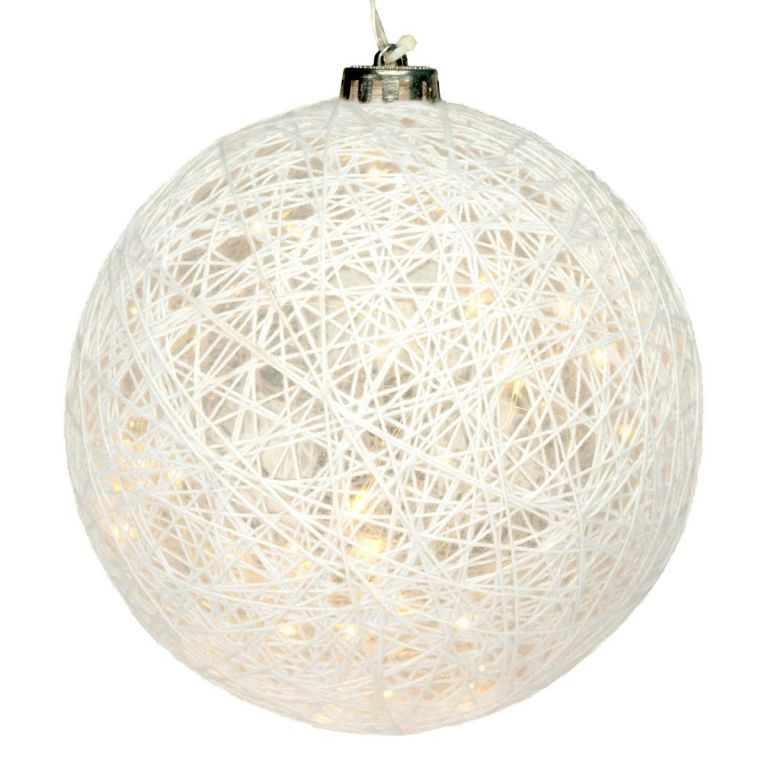 Svítící koule - 30 LED, teple bílá
